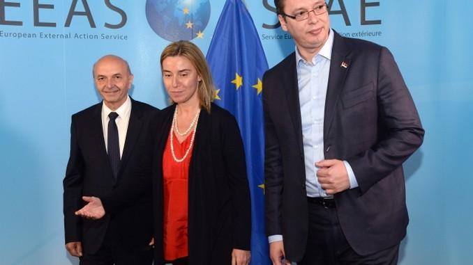 Mustafa Mogherini Vucic