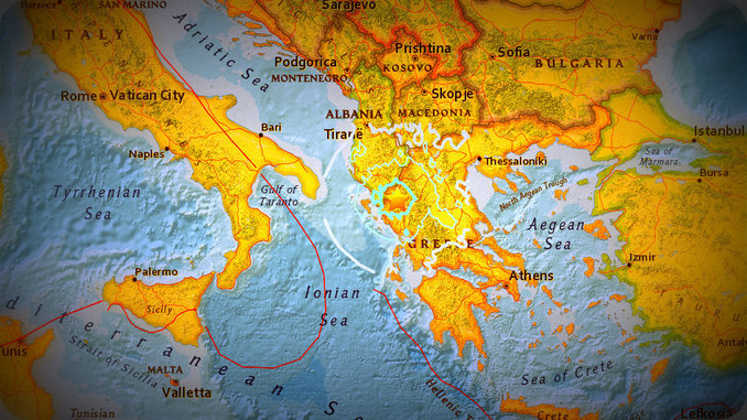 5.5 earthquake near the Greek-Albanian border