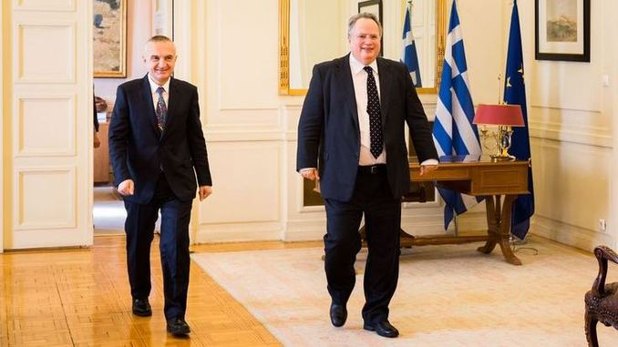 Ilir meta nikos kotsias albania greece