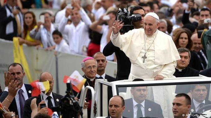 Pope Francis during his visit to Tirana, Albania