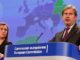 Mogherini Hahn Brussels Albania Crisis