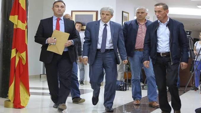 Ali Ahmeti and Artan Grubi of BDI