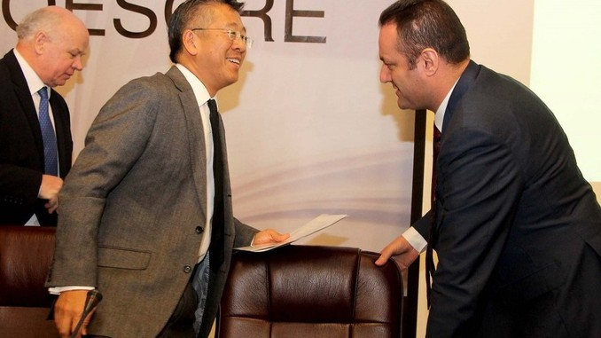 US AMbassador in Albania Donald Lu and General Prosecutor Adriatik Llalla