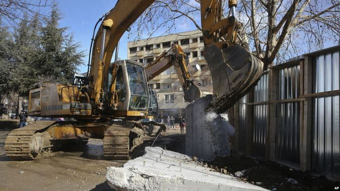 Mitrovica Wall Torn Down