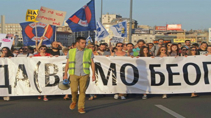 Let's Not Drown Belgrade protest attracted some 25,000 people in June 2016. Photo: Natalia Zaba/BIRN