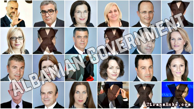 albanian, government, ministers, fired