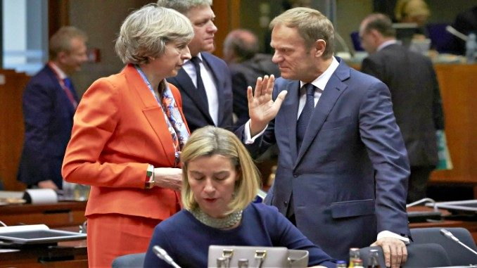 EU council, donald tusk, theresa may, mogherini