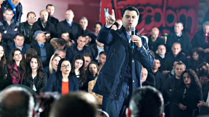 lulzim, basha, dp, protest, tirana, albania