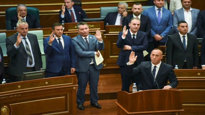 kosovo, government, ramush, haradinaj, parliament