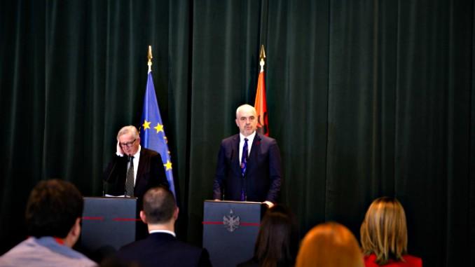 jean claude juncker edi rama EU Albania Tirana