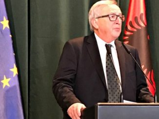 Jean Claude Juncker today in Tirana, Albania