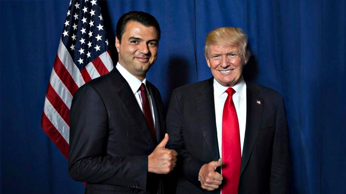 donald trump lulzim basha USA Albania