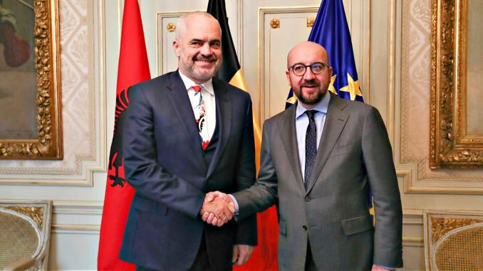 edi rama charles michel albania belgium tirana