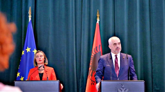 federica mogherini edi rama tirana albania eu