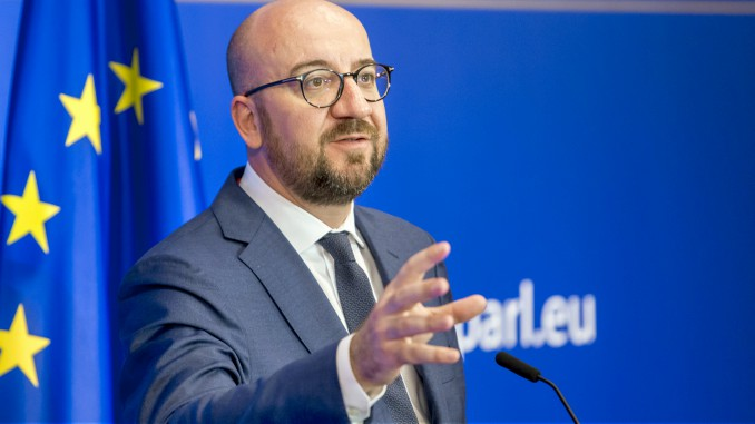 Belgian PM Charles Michel. Copyright© European Union 2018 - Source : EP Photo: Javier BERNAL