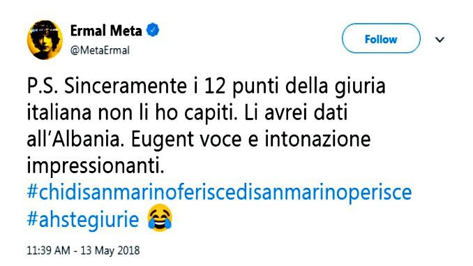 Ermal_Meta_Twitter_Status_Italy_Vote_Albania