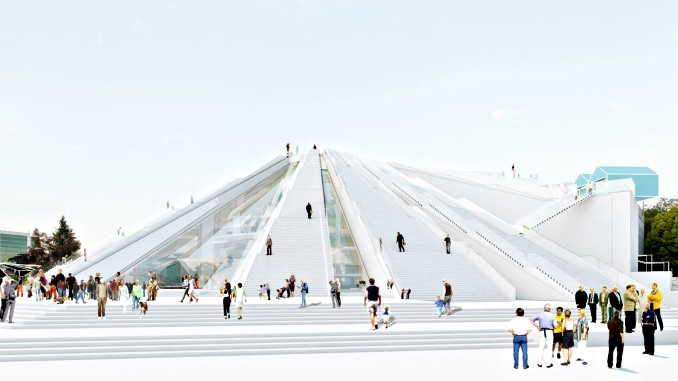 Plans for the new pyramid project in Tirana