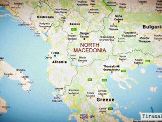 north macedonia fyrom map balkans