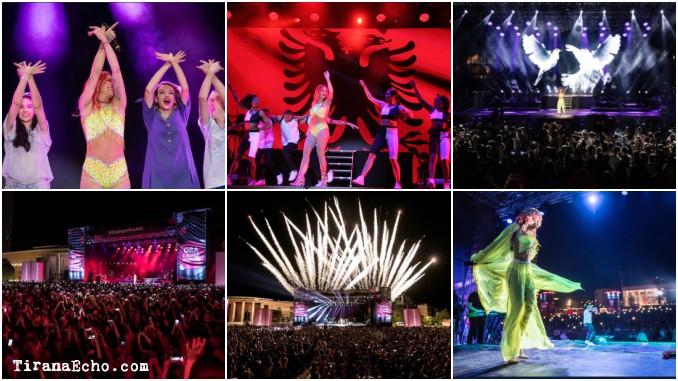 Rita Ora flashy concert in Tirana, Albania