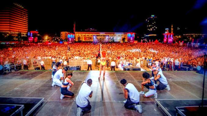 rita ora tirana albania concert