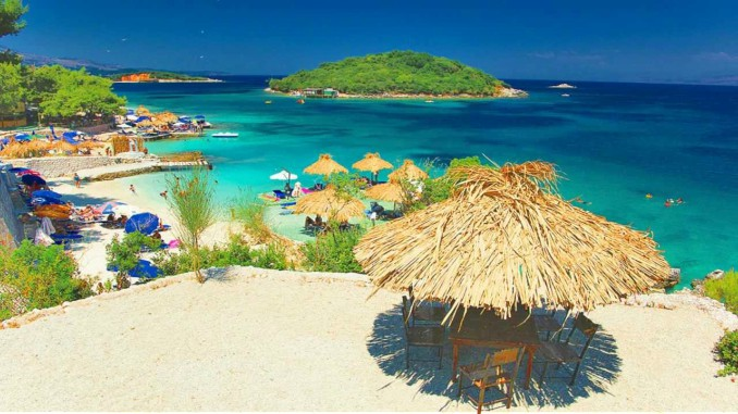 ksamil albania corfu beach tourism