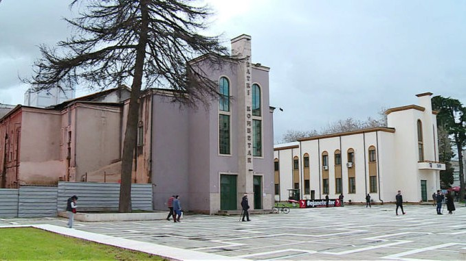 The old building of Albania's Italian designed National Theatre at Tirana's main square