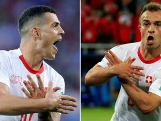 swiss football fifa xhaka shaqiri albanian eagle
