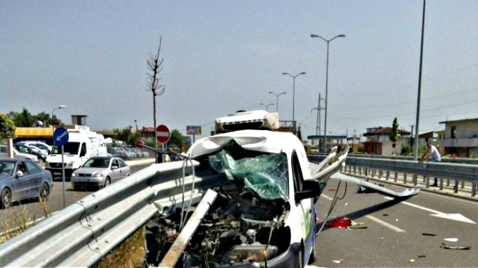 A deadly accident in the region of Burrel in Albania