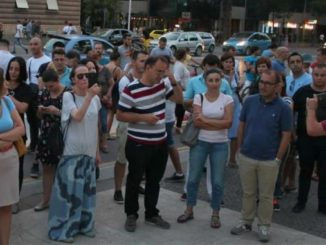 journalists protest tirana