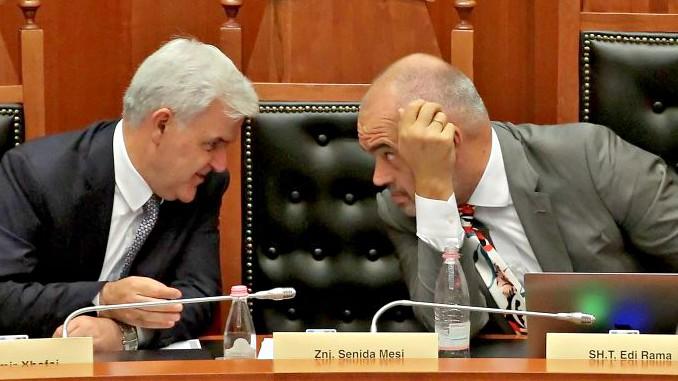 Fatmir Xhafaj Edi Rama Albanian Parliament