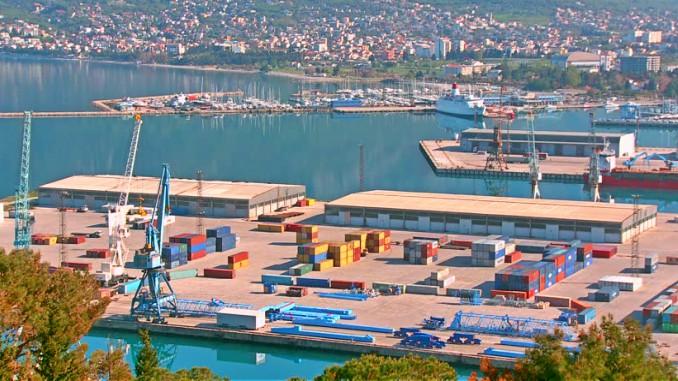Sea Port of Bar in Montenegro