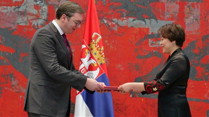 aleksandar vusis shen bo serbia china crendentials