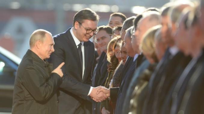 Vucic Putin Belgrade Russia Serbia