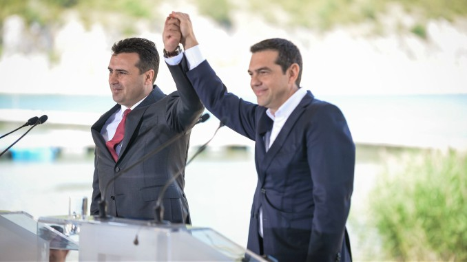 Prime Ministers Alexis Tsipras and Zoran Zaev