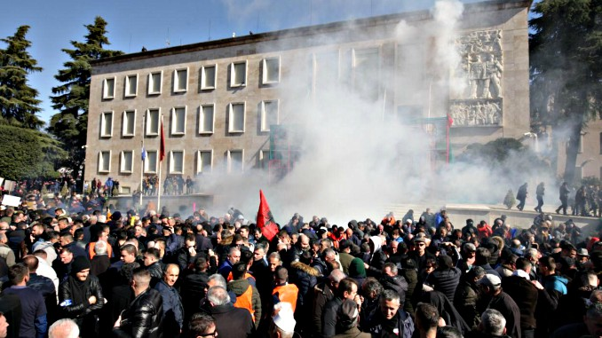 Albania Opposition Protest Violent
