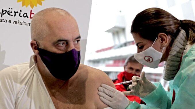 Edi Rama Albania PM Vaccine Pfizer